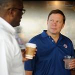 Platinum Equity Senior Executive Phil Norment and Pistons Coach Joe Dumars