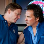 Tom Gores and Phil Norment, of Platinum Equity, on day one of operations.
