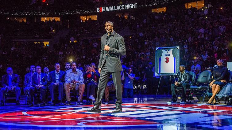 Detroit Pistons owner Tom Gores congratulates franchise icon Ben Wallace on HOF nod
